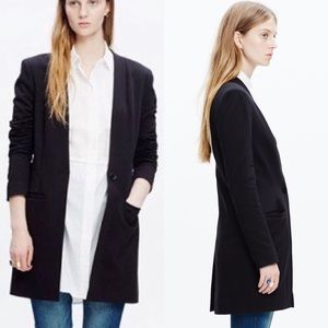 Madewell Venice Boyfriend One Button Long Blazer
